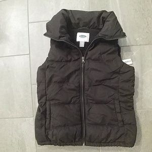 XS. Petite Old Navy Black Puffer Vest NEW